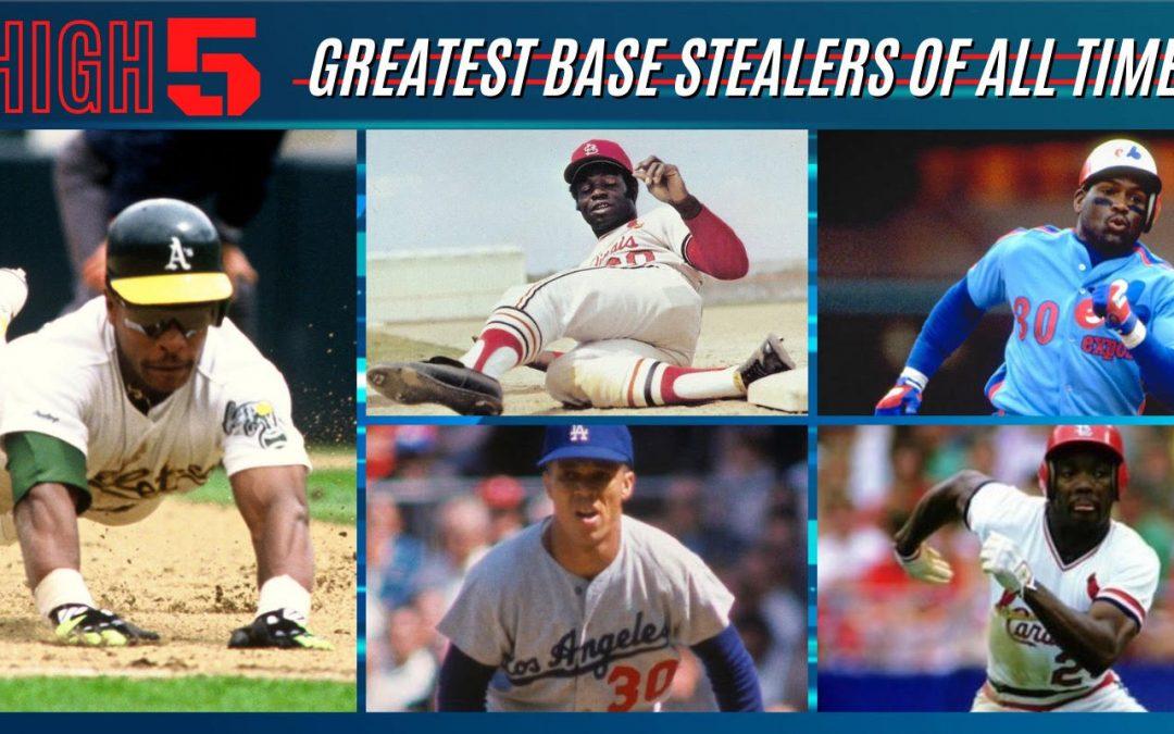 #HIGHFIVE | Top 5 Stolen Base Kings