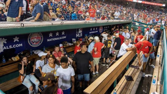 Terror At Nationals Park |  Four People Shot Outside Stadium Causing Pandemonium Inside & Game Suspension