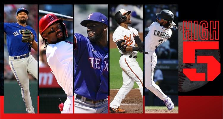 #HIGHFIVE | Top 5 Black & Brown MLB Players (Week 22)