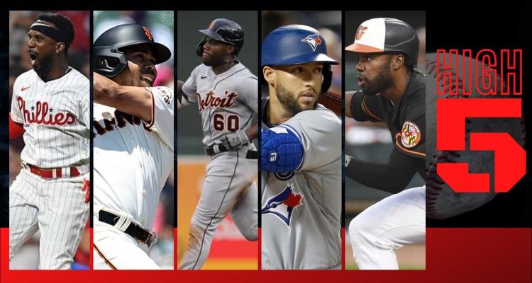 #HIGHFIVE | Top 5 Black & Brown MLB Players (Week 16)
