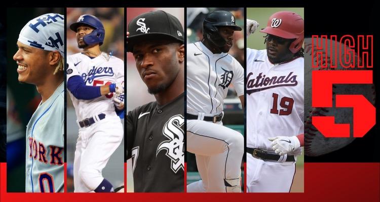 #HIGHFIVE: Top 5 Black & Brown MLB Players (Week 15)