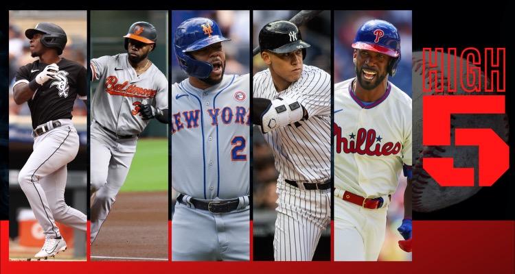 #HIGHFIVE: Top 5 Black & Brown MLB Players (Week 14)