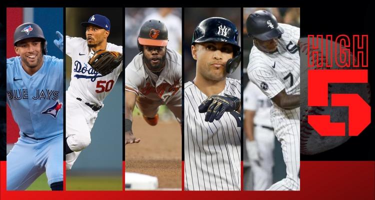 #HIGHFIVE   Top 5 Black & Brown MLB Players (Week 17)