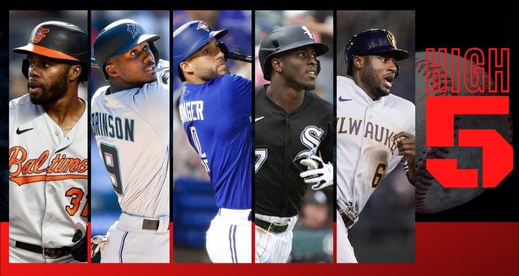 #HIGHFIVE | Top 5 Black & Brown MLB Players (Week 18)